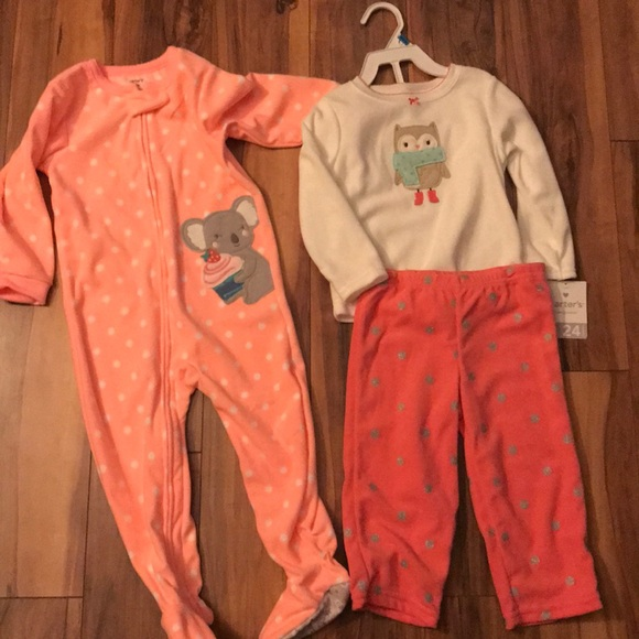 Carter/'s Pajamas 24 M Footed NWT Cotton Boy/'s Dino Dinosaur Snug Fit
